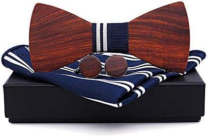 Pajarita de madera Trajes de corbata rojos de Wingceltis Corbatas ...