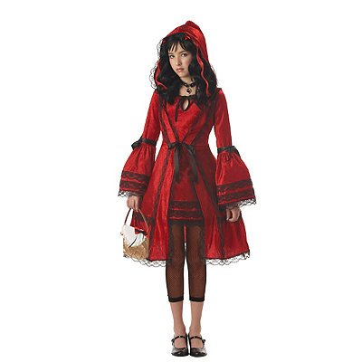 Gothic Red Riding Hood (Little Red Riding Hood Tween Costume - Large)