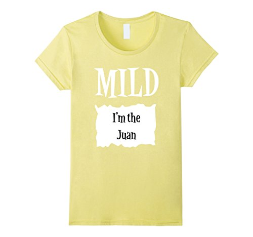 Womens Halloween Costume T Shirts - Mild Hot Sauce Packet Taco Tee Small Lemon - Ideas For Halloween Costume For Work