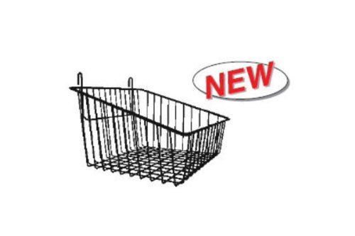 Sloped Front Wire Basket For Gridwall White 3 Pcs - Work With All Grid Panels by The Competitive Store
