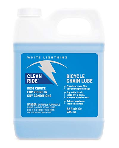 (White Lightning Clean Ride - Chain Lube - Squeeze Bottle, 32 Ounce)
