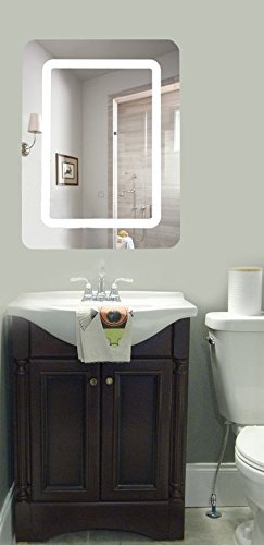 Lulu Decor, LED Lighted Rectangle Wall Mounted Mirror for Vanity Bathroom Vertical or Horizontal (24'' x 28'') by LuLu (Image #3)