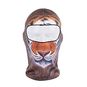ECYC Full Face Mask stylish personnality Balaclava neck protection versatile well made Mask snowboard Snowmobile Balaclava Fleece for Riding Hiking Balaclava hood winter ( tiger )  45 x 26 cm(L X W)