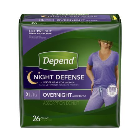 Depend Night Defense Incontinence Overnight Underwear for...