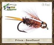 Fly Fishing Flies - PRINCE NYMPH BEADHEAD - Nymph (3-pack)