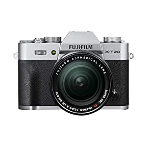 Fujifilm X-T20 Mirrorless Digital Camera Body, with XF 18-55mm F2.8-4 R LM OIS Lens, Silver – Bundle with Camera Case, 16GB SDHC Card, 58mm Filter Kit, Cleaning Kit, Card Reader, Software Package