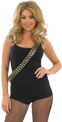 GOLD BULLET SHOULDER BELT Accessory Fancy Dress Costume