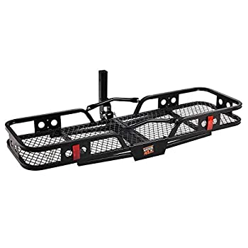 Image of Cargo Baskets Fullwatt 520LBS Hitch Mount Cargo Carrier Basket with 60' x 20' x 6' Steel Hitch Hauler Heavy Duty Steel 2' Hitch Receiver Fit for Car SUV Truck
