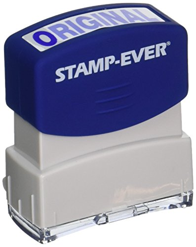 Stamp-Ever Pre-Inked Message Stamp, Original, Stamp Impression Size: 9/16 x 1-11/16 Inches, Blue (5957)