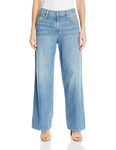 5 Pocket Wide Leg (Vince Women's 5 Pocket Wide Leg, Mid Wash, 26)