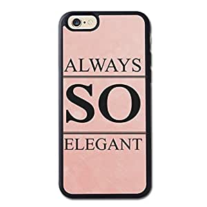 Always So Elegant Generic High Quality Snap On Soft TPU Cellphone Case Back Skin Cover Protector For iPhone 6 4.7inch Black