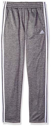 (adidas Boys' Big Tricot Pant, Dark Grey Heather M (10/12))