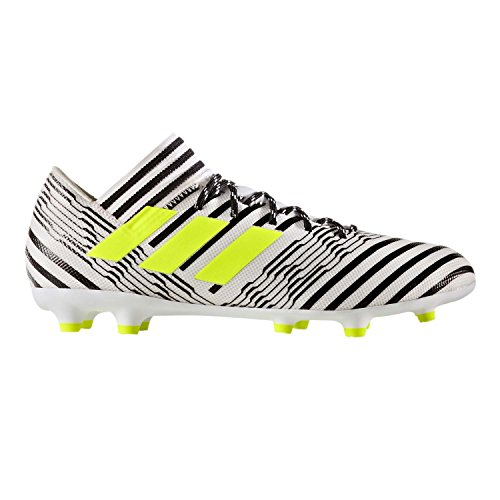 adidas Men's Nemeziz 17.3 Firm Ground Cleats Soccer Shoe, White/Solar Yellow/Black, (11.5 M US) by adidas