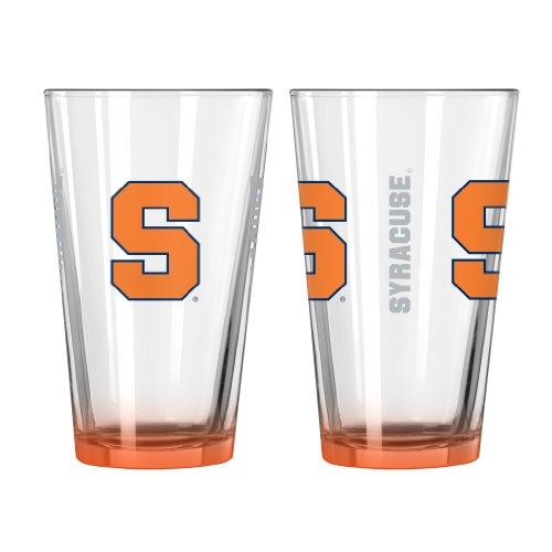 NCAA Syracuse Orange Elite Pint Glass, 16-ounce, - Glasses Syracuse