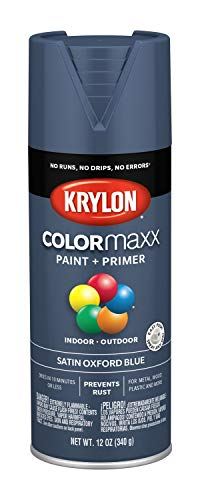 Krylon K05571007 COLORmaxx Spray Paint, Aerosol, Oxford Blue