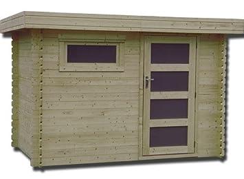 DECOR ET JARDIN Abrigo de jardín madera plosiréal 28 mm - 5, 90 m²: Amazon.es: Jardín