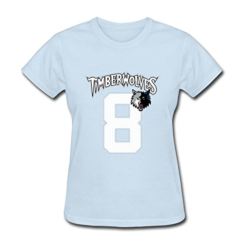Price comparison product image Women's Tee-Classic Zach LaVine 8 Basketball Players SkyBlue SizeXL