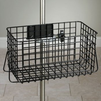 IV Pole Black Heavy Duty Wire Basket - 14x8x8-1/2 (Clamp not Included) - CL-IV-51B