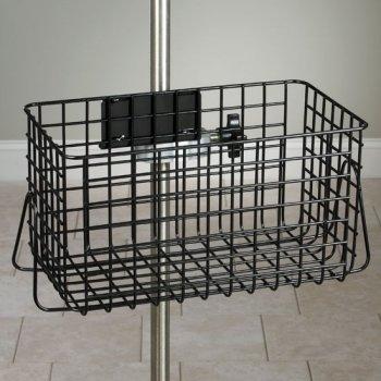 IV Pole Black Heavy Duty Wire Basket - 12x6x6-1/2 - CL-IV-52B