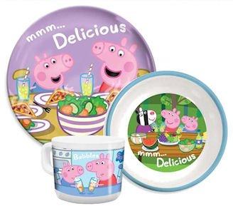 Peppa Pig u0026 George Plate Bowl u0026 Cup Tableware ...  sc 1 st  Amazon UK & Peppa Pig u0026 George Plate Bowl u0026 Cup Tableware Gift Set: Amazon.co ...