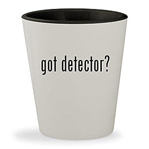 got detector? - White Outer & Black Inner Ceramic 1.5oz Shot Glass