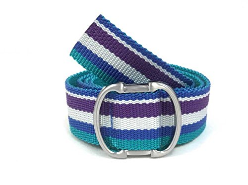 - Alpine Design Women's Adjustable Belt -Columbia Striped Turquoise Purple, One Size