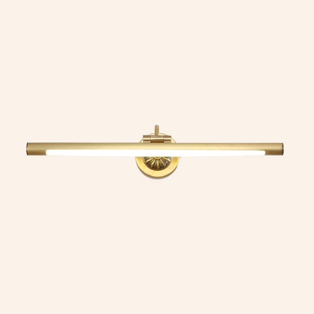 Fenciayao バスミラーライトLEDランプ、8W-15W暖かい白色バスルームライト、EMCドライバー、省エネ省エネ (Color : Brass, サイズ : 56.5CM) 56.5CM Brass B07RY2ZLC5