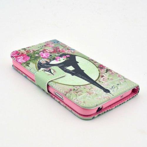 PowerQ [ para IPhone6 IPhone 6 6G - 14 ] PU Funda Serie bolsa Modelo colorido con bonito hermoso patrón de impresión Impresión Dibujo monedero de la cartera de la cubierta móvil del bolso del teléfono 1