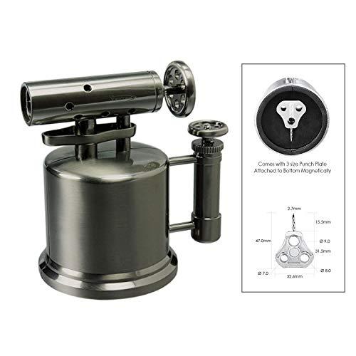 Vector TriPump Table Top Cigar Torch Lighter Gunmetal Tri Pump ()