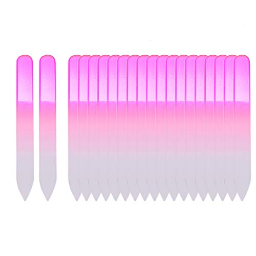 - Monrocco 20Pcs Crystal Glass Nail File Set Crystal Glass Nail Files Buffer Manicure Gradient Rainbow Color for Natural & Acrylic Nails Double Side Nail Care