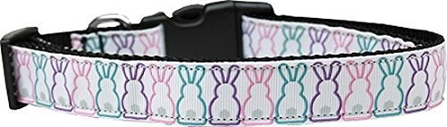 Mirage Pet Products Bunny Tails Nylon Dog Collar, Large