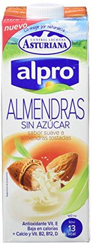 Alpro Central Lechera Asturiana Bebida de Almendra Sin Azúcar – Paquete de 8 x 1000 ml – Total: 8000 ml