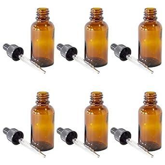 Amazon.com: Plata Spur ámbar Botellas De Vidrio Para Aceites ...