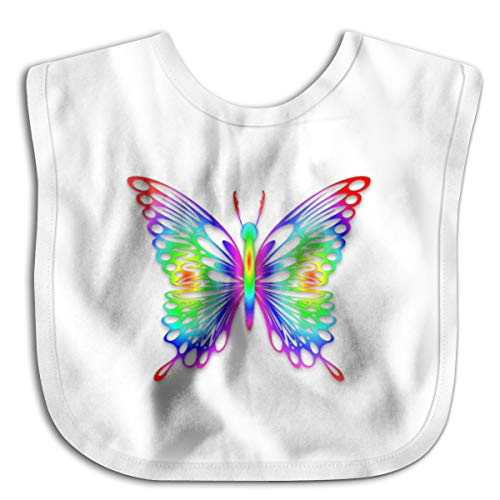 (Colorful Butterfly Infant Toddler Bibs Adjustable Snaps Cute Design Baby Bib Funny Baby Shower - Gift)