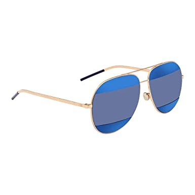 22c761e83cc3cb Image Unavailable. Image not available for. Color: Dior 000KU Rose Gold /  Blue DiorSplit2 Aviator Sunglasses