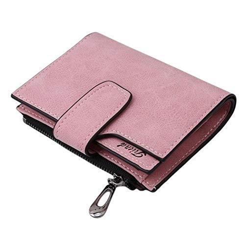 Logistt Women Clutch,Fashion Solid Short Wallet Zipper Clutch Card Holder Money Clips