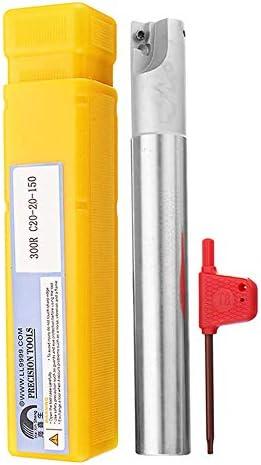 Qualitäts-CNC-Drehmaschine Werkzeug-Zubehör C20 20 150 150Long Fräser CNC-Werkzeughalter mit Schlüssel for APMT1135 20mm BAP300R