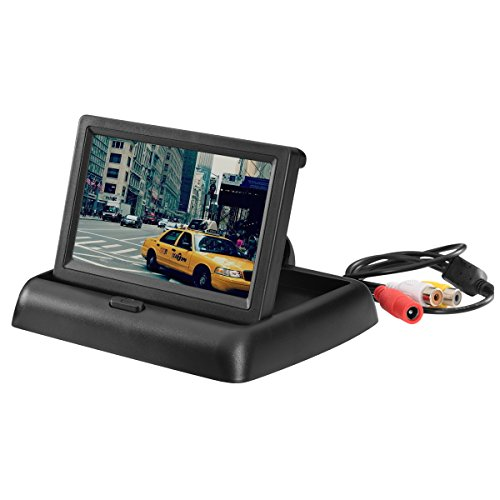 Scotabc SC170-02LCM Foldable 4.3 Inch Color LCD TFT Rearview Monitor Screen for Car Backup Camera