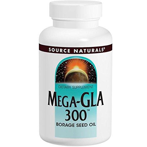 Source Naturals Mega GLA 300 Borage Seed Oil — 300 mg – 120 Softgels For Sale