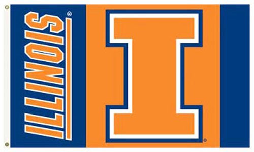 University of Illinois – 3 ' x 5 ' NCAAポリエステルフラグ B000EOHCO4