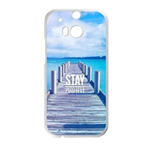 HTC One M8 Cell Phone Case White Stay Positive BNY_6879111