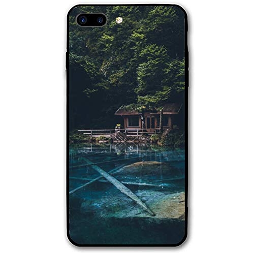 iPhone 8 Plus Case, Waterfront Cabin Girls Women Best Protective Rubber Slim Fit Thin Phone Case Compatible iPhone 8 Plus ()