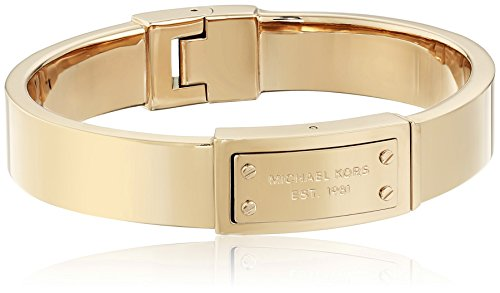 Michael Kors Gold Tone Hinge Bangle Bracelet