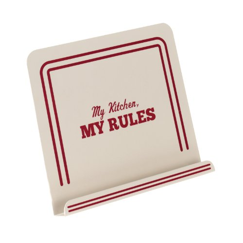 Cake Boss Countertop Accessories Metal Cookbook Stand, Cream,''My Kitchen, My Rules'' by Cake Boss
