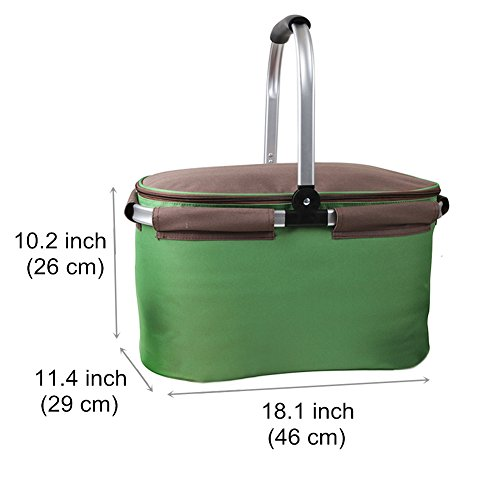 Yodo 22l Soft Picnic Basket Large Cooler Compartment
