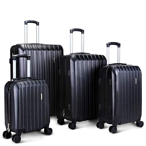 (Hardside Spinner Luggage 4 Pieces Luggage Set ABS Light Travel Case -16