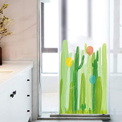 NIHAI Inkjet Wall Stickers- 60 x 90 cm- Graffiti Cactus Balloons Self-Adhesive Glass Door Wall Sticker Stickers Home Decor ()