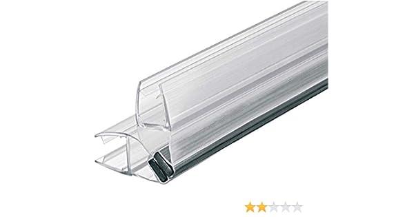 Gedotec Magnet-Dichtung Ducha Sellado 90°para Duschtrennwände - Mamparas de - Puertas Corredizas | PVC Transparente | Glastür-dichtung para Grueso Cristal 8-10mm | 1 Pieza - Labio: Amazon.es: Bricolaje y herramientas