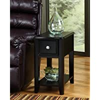Contemporary Dark Brown Chair Side End Table