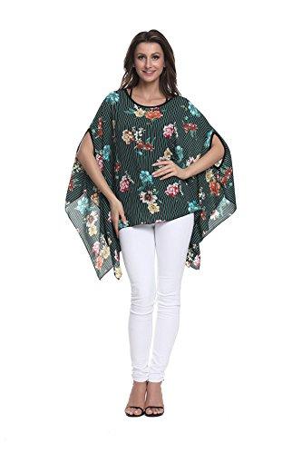 en T Soie Couleurs Style Les OKSakady Porter 6 Size Mousseline Boho Shirt de dcontract pour Style Tops Femmes Plage lache Plus 10034 Chemise qvA0S